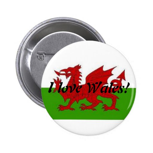 I love Wales-buttom Buttons