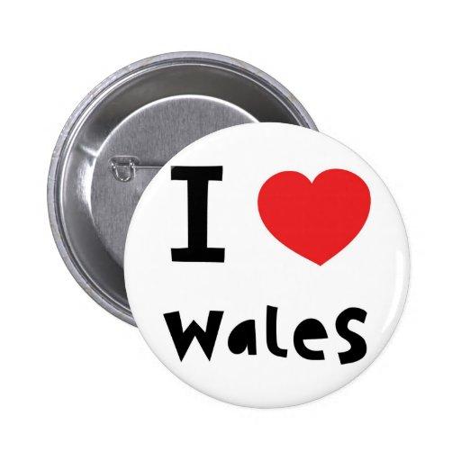 I love Wales Pin