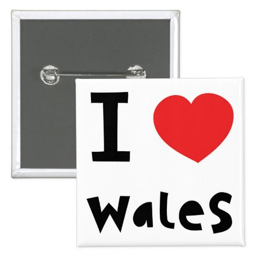 I love Wales Button