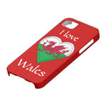 I love Wales iPhone 5 Cases