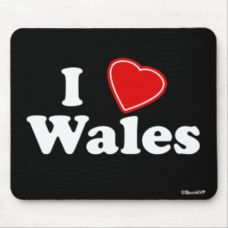 I Love Wales Mouse Pad