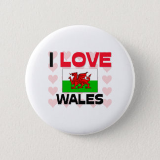 I Love Wales Pinback Button