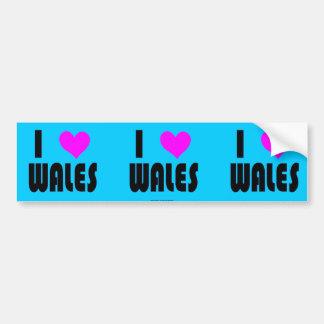 I Love Wales UK bumper sticker