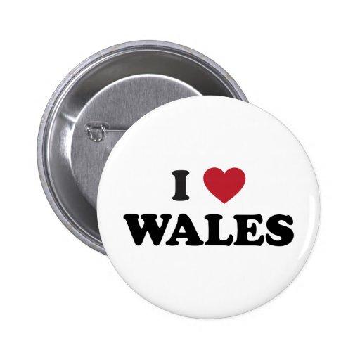 I Love Wales, United Kingdom Pin