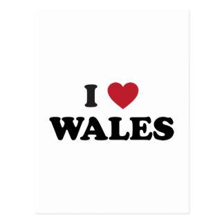 I Love Wales, United Kingdom Postcard
