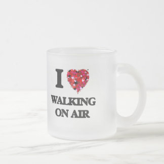 I love Walking On Air 10 Oz Frosted Glass Coffee Mug