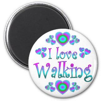 I Love Walking Refrigerator Magnet