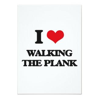"I love Walking The Plank 5"" X 7"" Invitation Card"