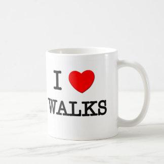I Love Walks Coffee Mugs