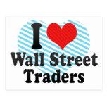 I Love Wall Street Traders Postcard