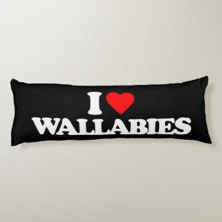 I LOVE WALLABIES BODY PILLOW