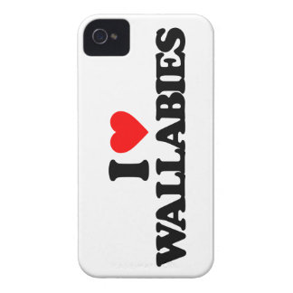 I LOVE WALLABIES Case-Mate iPhone 4 CASES