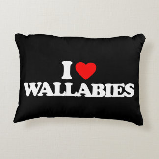 I LOVE WALLABIES DECORATIVE PILLOW