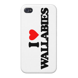 I LOVE WALLABIES iPhone 4 COVERS
