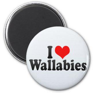 I Love Wallabies Magnets