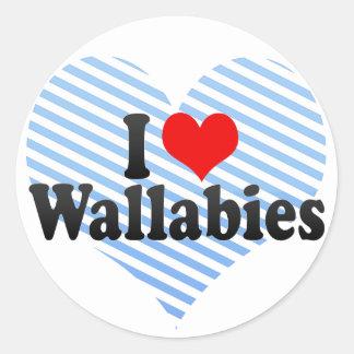I Love Wallabies Sticker