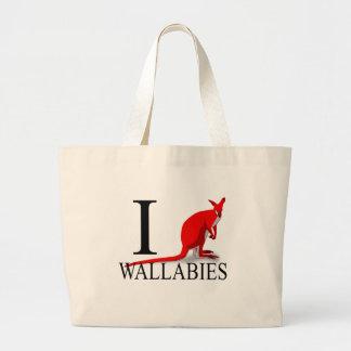 I Love Wallabies Tote Bags