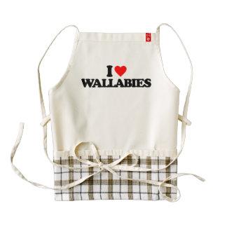 I LOVE WALLABIES ZAZZLE HEART APRON