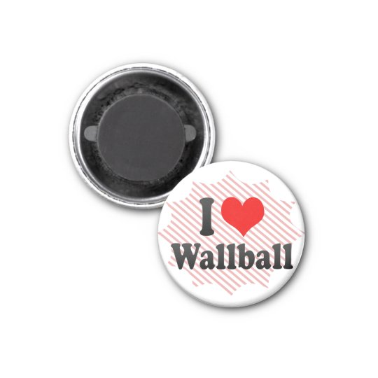 I love Wallball Magnet