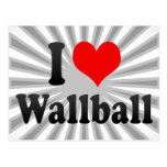 I love Wallball Postcard