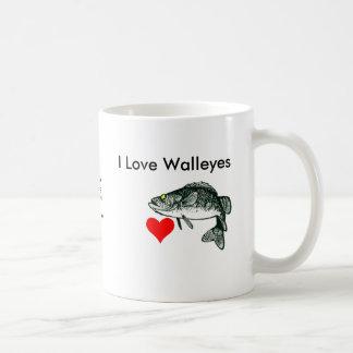 I Love Walleyes Mugs