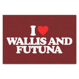 "I LOVE WALLIS AND FUTUNA 10"" X 15"" TISSUE PAPER"