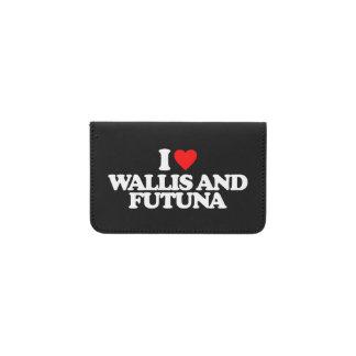 I LOVE WALLIS AND FUTUNA BUSINESS CARD HOLDER
