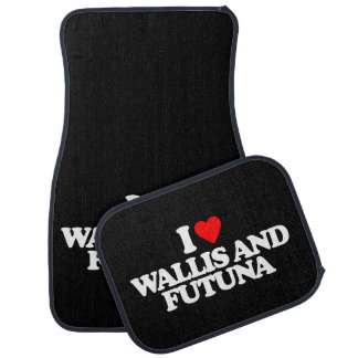 I LOVE WALLIS AND FUTUNA CAR FLOOR MAT
