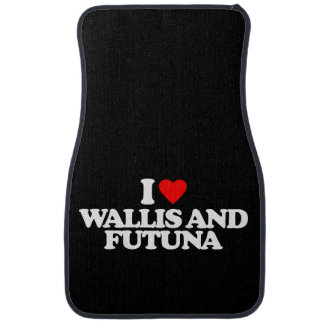 I LOVE WALLIS AND FUTUNA CAR MAT