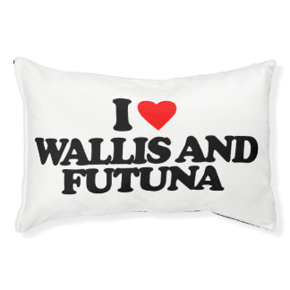 I LOVE WALLIS AND FUTUNA DOG BED