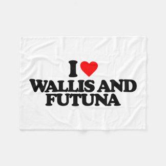 I LOVE WALLIS AND FUTUNA FLEECE BLANKET