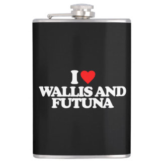 I LOVE WALLIS AND FUTUNA HIP FLASK