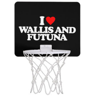 I LOVE WALLIS AND FUTUNA MINI BASKETBALL BACKBOARD