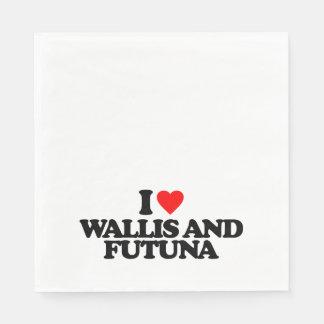 I LOVE WALLIS AND FUTUNA PAPER NAPKIN