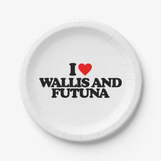 I LOVE WALLIS AND FUTUNA PAPER PLATE