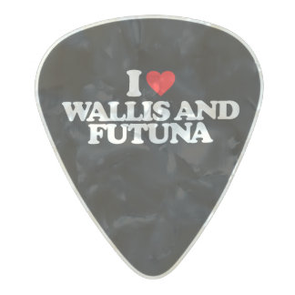 I LOVE WALLIS AND FUTUNA PEARL CELLULOID GUITAR PICK