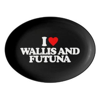 I LOVE WALLIS AND FUTUNA PORCELAIN SERVING PLATTER