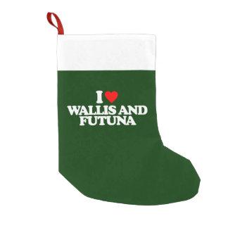 I LOVE WALLIS AND FUTUNA SMALL CHRISTMAS STOCKING