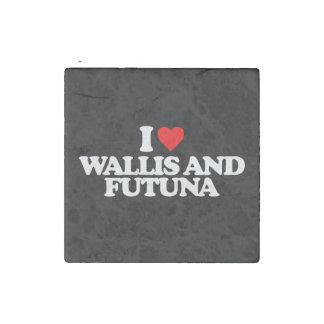 I LOVE WALLIS AND FUTUNA STONE MAGNET