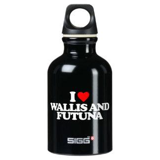 I LOVE WALLIS AND FUTUNA WATER BOTTLE