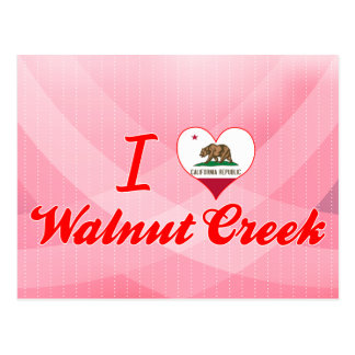 I Love Walnut Creek, California Postcard