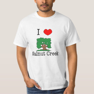 I Love Walnut Creek Tee Shirt