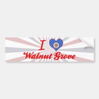 I Love Walnut Grove, Minnesota Car Bumper Sticker
