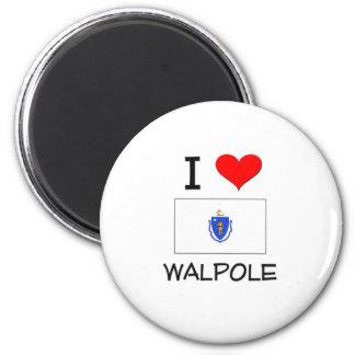 I Love Walpole Massachusetts 2 Inch Round Magnet
