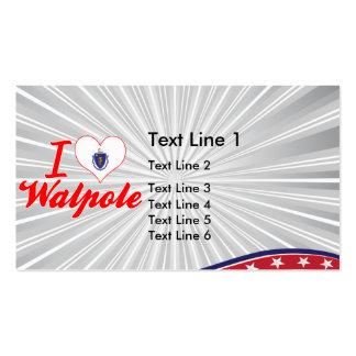 I Love Walpole, Massachusetts Business Card Template
