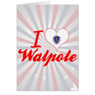 I Love Walpole, Massachusetts Greeting Cards