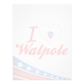 I Love Walpole, Massachusetts Letterhead Design