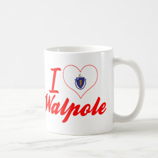 I Love Walpole, Massachusetts Coffee Mugs