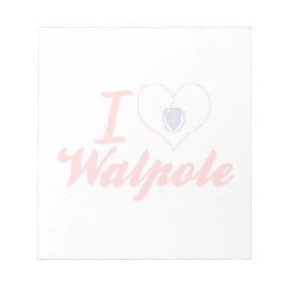 I Love Walpole, Massachusetts Scratch Pad