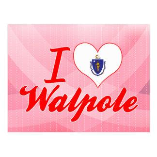 I Love Walpole, Massachusetts Postcard